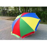 Buy cheap Windproof Storm Promotional Beach Umbrellas With 420D Oxford Fabric , Round Shaped from wholesalers