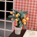 Buy cheap Mini furniture model Siwan clay flower pot small kumquat HC004 from wholesalers