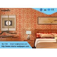 Buy cheap Red Long Fiber Nonwoven Living Room Wallpaper , Modern Wallpaper For Bedrooms from wholesalers