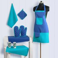Buy cheap Handmade Patterned Cotton Chef's Apron Set with Pot Holder, Oven Mitts & Napkins - Perfect Home Kitchen Gift or Bridal S from wholesalers