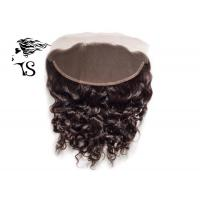 Buy cheap Hand Crafted Ear To Ear Lace Front Closure , Brazilian Lace Frontal Pieces 13x4 from wholesalers
