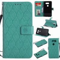 Buy cheap LG V30 Leather Protective Case with Flower Embossed Pattern from wholesalers