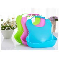 Buy cheap Unique Promotional Cute Pure Plain Silicone Kids Baby Bib With Plastic Backing from wholesalers