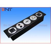 Buy cheap Black Changeable Wall Socket Plates , 5 Circles Media Wall Outlet from wholesalers