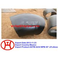 Buy cheap ASTM A234 WPB 45 deg LR elbow from wholesalers
