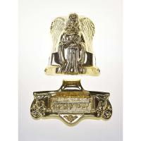 Buy cheap Angel Shaped Casket Ornaments , Metal Coffin Fittings 19#  In Gold Plating from wholesalers