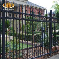 Buy cheap victorian style antique black wrought iron fence metal ornaments horse fencing steel swimming pool fence from wholesalers