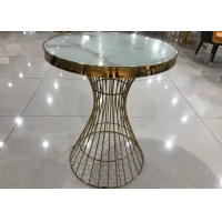 Buy cheap Total Height 75cm Modern Wrought Iron Glass Coffee Table from wholesalers