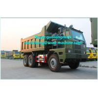 HOWO 70 Ton 6x4 Mining Heavy Duty Dump Truck for Transport , GREEN
