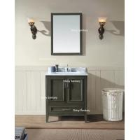 Buy cheap Army Green Solid Wood Vanity Unit Left Or Right Handed Oak Wood Or Plywood Solid Wood from wholesalers