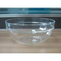 Buy cheap 282g Round Salad Clear Acrylic Bowl With Customized Logo product