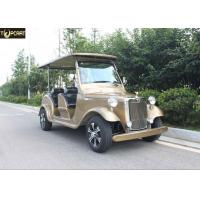 Buy cheap 4 Seater Battery Powered Classic Car Golf Carts Champagne Color , 80-100 Km Driving Mileage from wholesalers