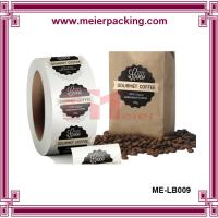 Buy cheap Cheap round label sticker for coffee bag, adhesive roll waterproof PET sticker ME-LB009 from wholesalers