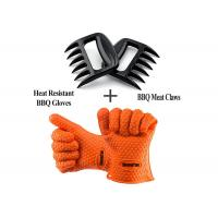 Buy cheap Durable Heat Resistant Personalised BBQ Silicone Gloves With Shredder Handlers Fork from wholesalers