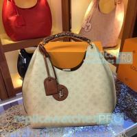 Buy cheap Top Quality Clone LV bag White Taurillon lv bags bag Leather Ladies Shoulder Bag from wholesalers
