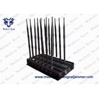 Buy cheap Adjustable 14 Antennas Powerful WiFi Mobile Phone Signal Jammer 50 Meters Range product