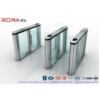 Brushed Surface Speed Gate Fastlane Turnstile Half Height Turnstile With Fingerprint Reader