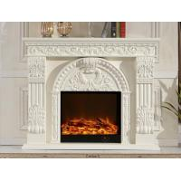 Buy cheap 750w - 1500w Imitation Marble Electric Fireplace White Electric Indoor Fireplaces from wholesalers