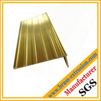 Buy cheap Brass extrusion stair nosing profiles copper profiles for stair nosing from wholesalers