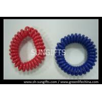 Buy cheap Solid red/blue wrist coil, plastic spring coil, POP coils from wholesalers