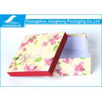 Buy cheap Empty Christmas Floral Lidded Cardboard Boxes Colored Beautiful Printed from wholesalers