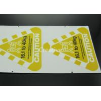 Buy cheap Full Colour Printed Customized Sticker Labels Triangle Shape product