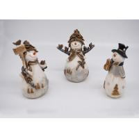 Buy cheap Resin / Polyresin Crafts 3D Small Snowman Figurines Lovely For Home Decoration from wholesalers