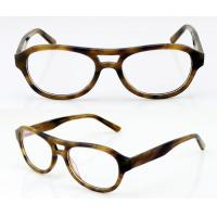 Buy cheap Fashion Oval Acetate Mens Eyeglasses Frames, Leopard Acetate Optical Glasses Frames product