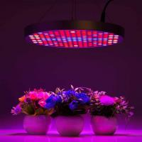 Buy cheap Marijuana UFO LED Grow Lights With Alluminum / PC Materials , Dia 33x H3 cm product