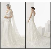 Buy cheap V-Neck Sweep Train Womens Wedding Dresses / Sexy Wedding Gowns from wholesalers