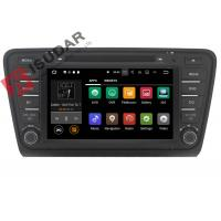 Quality Iphone & Android Car DVD Player Skoda Octavia Head Unit ARM Cortex A9 Quad Core 1.6GHZ for sale