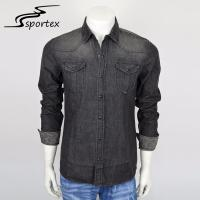 Buy cheap Casual Camping Washed Denim Shirt 100% Cotton Premium Materials XS - 2XL from wholesalers