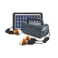 China off grid solar energy  portable solar power home system 3W solar lighting system with Radio speaker black on sale
