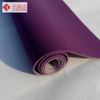Buy cheap Luxury Flocked Velvet Upholstery Fabric Purple With Long Pile , Soft Plush from wholesalers
