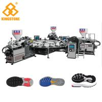 Buy cheap 1 / 2 / 3 / 4 Color TPR PVC Sole Making Machine 100-120pairs / Hour For Plastic Shoes from wholesalers