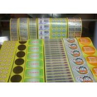 Buy cheap Greaseproof Food Label Stickers , Adhesive Food Labels For Fruits / Vegetables from wholesalers