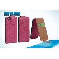 Buy cheap PC Plain Weave Mobile Phone Leather Case , Apple iPhone Protective Pouch from wholesalers