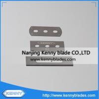 Buy cheap High Hardness Customized Size Tungsten Carbide Double Edge 3 Hole Blades For PP/PE/PET/BOPP from wholesalers