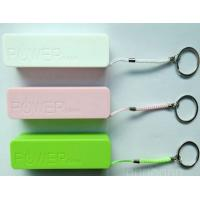 Buy cheap Plastic 2400mAh Portable USB Power Bank For Cell Phone In Green / Pink from wholesalers