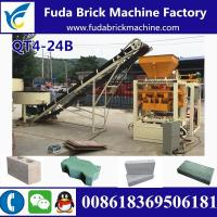 Buy cheap QT4-24B semi automatic concrete hollow block making machine production line from wholesalers