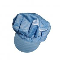 Buy cheap Anti Static ESD Cap Dustless Polyester Fabric Size S/M/L/XL White, Blue, Yellow from wholesalers