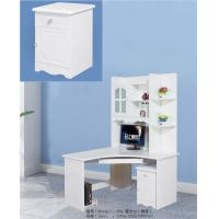 Buy cheap Matte White Painted MDF Computer Desk , Home Computer Desk With Storage from wholesalers