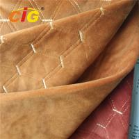 Buy cheap 100% Polyester Embroidery Plain Velvet Auto Upholstery Fabric 145CM Width product