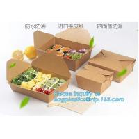 Buy cheap New Brown Kraft Takeaway Lunch Box Paper Folding Lunch Box Disposable Food Container Biodegradable Packaging Paper Box from wholesalers
