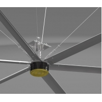 Buy cheap Aluminum Hvls High Volume Low Speed Ceiling Fans Residential from wholesalers