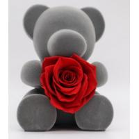 Buy cheap Home Decoration Preserved Rose Gift Box With Bear For Birthday / Parties from wholesalers