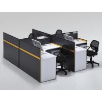 Buy cheap aluminum work partition modern cubicle office modular workstation with glass and alunium partition column B2 from wholesalers