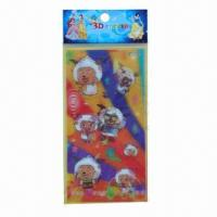 Buy cheap Lenticular stickers/3D hologram stickers, 3D function, adhesive paper back, customized designs/sizes product