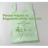 Buy cheap Heavy Duty Compostable T-shirt Handle Tie Plastic Roll Garbage Bags Trash Bags, t shirt carry bags, bagease, bagplastics from wholesalers