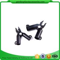 Buy cheap Adjustable Garden Cane Connectors , 16mm Black Bamboo Cane Connectors 50*40*40 Free sample from wholesalers